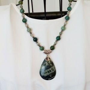 Jasper & Sterling Handcrafted Necklace